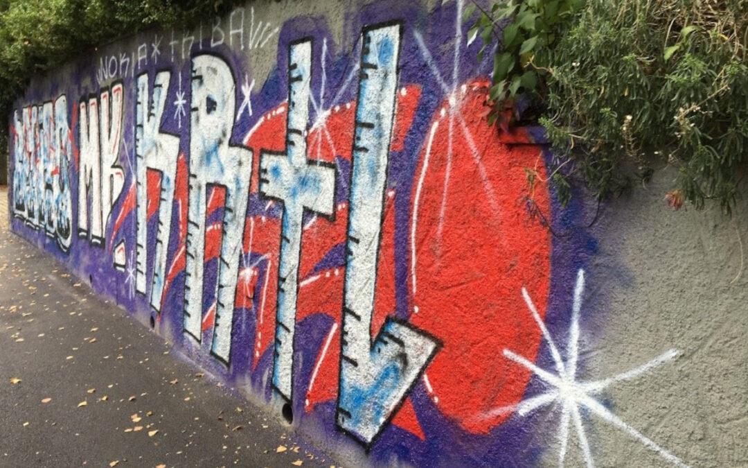 Graffitientfernung - Sandrainstrasse, Bern - VORHER
